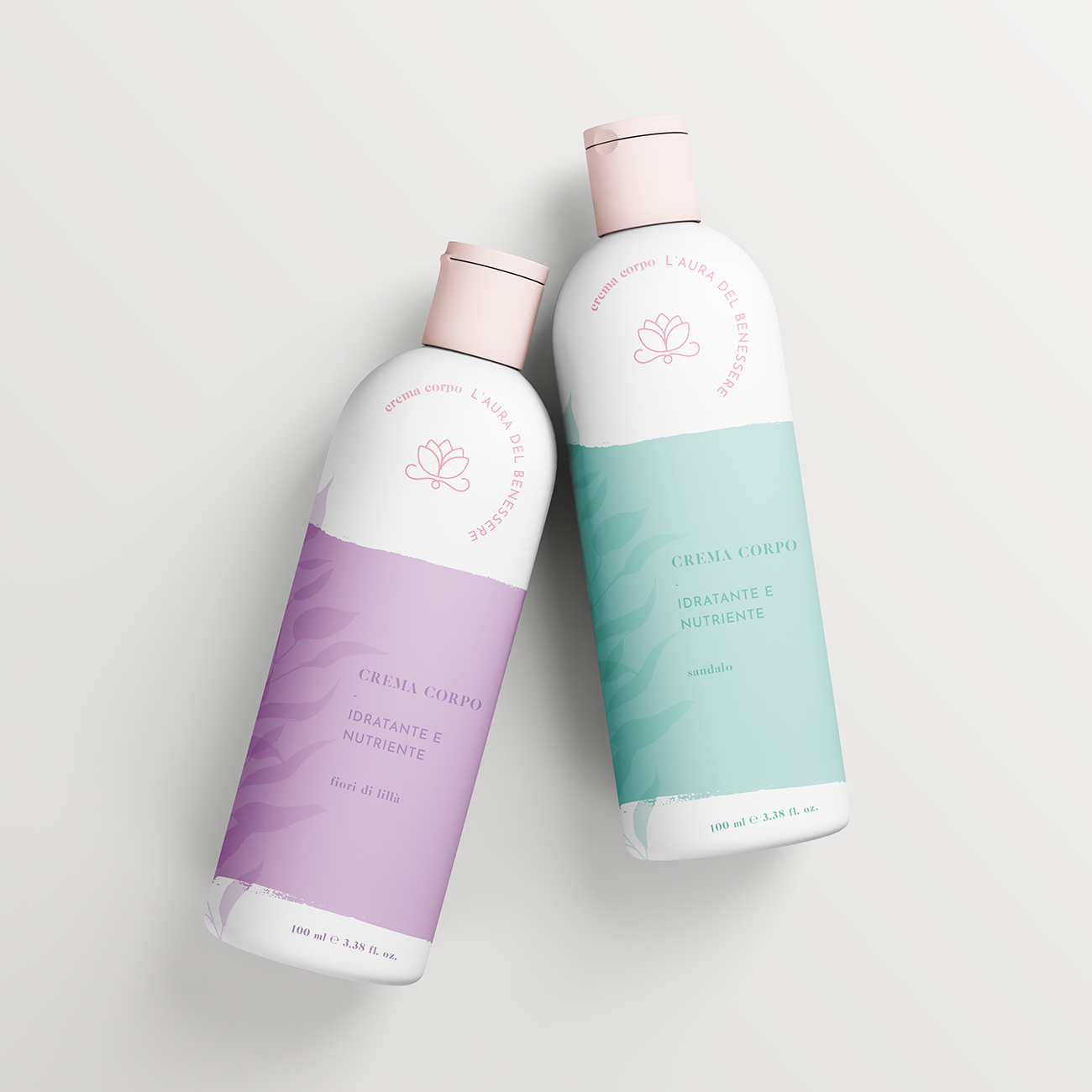 packaging body cream laura del benessere